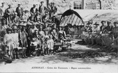 annonay - greve des tanneurs