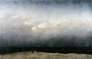 caspar david friedrich – le moine au bord de la mer (1809)
